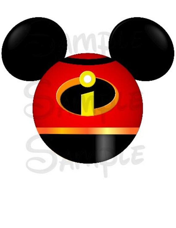 Incredibles inspired character Mickey Head digital printable