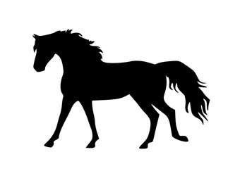 """Horse sticker-Large Horse decal, 27""""x18"""", wall decor. 254-HS"""