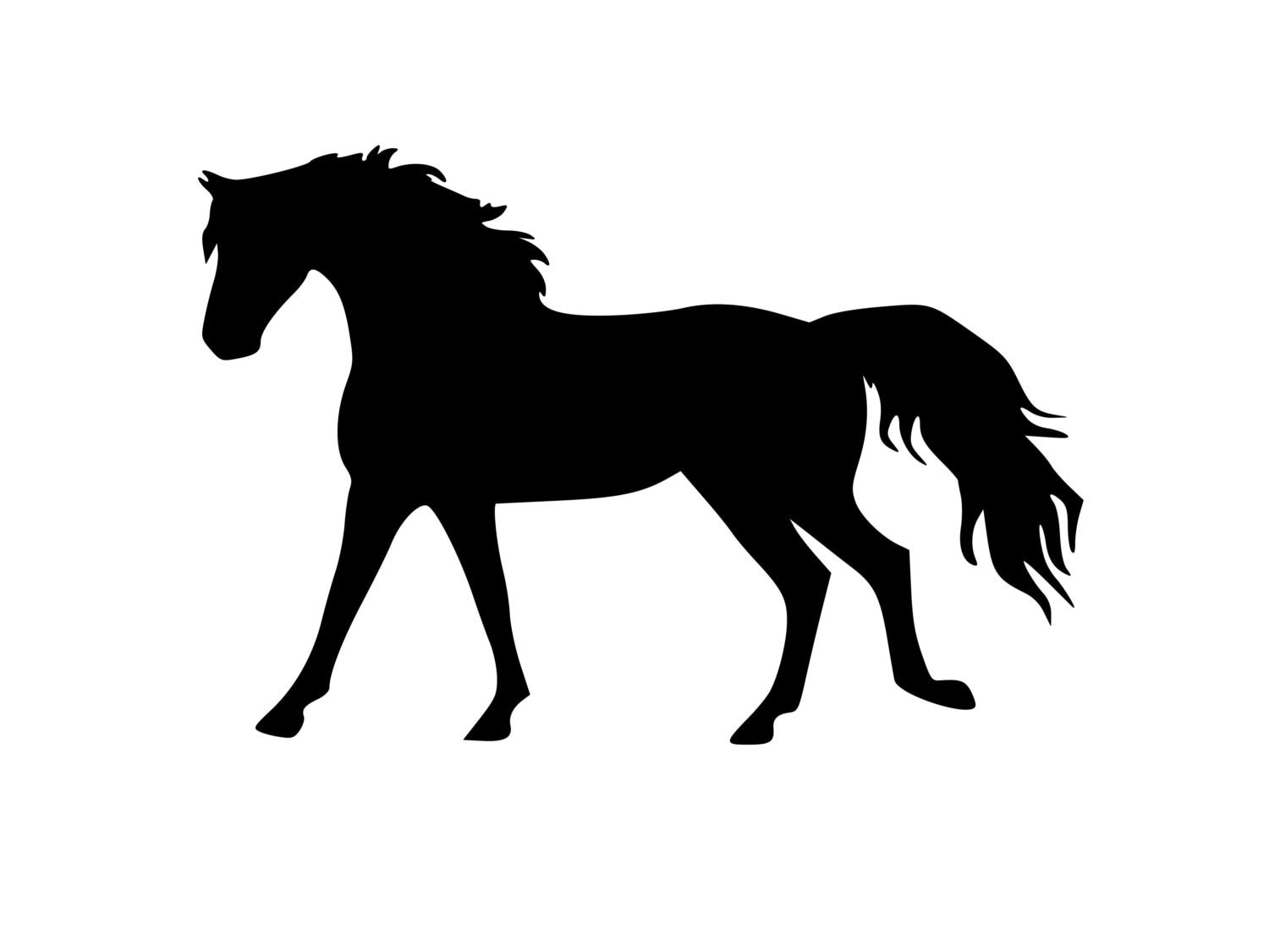 Horse sticker-Large Horse decal 27x18 wall - photo#13