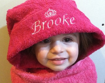 Hooded Towel for Boy or Girl - Personalized Gift
