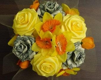 Lucky Money Cutie Pot Ribbon Flower Centerpiece
