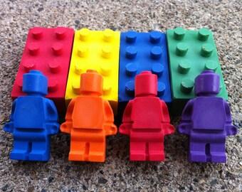 8pk. Bricks & Mini figures- Light colors