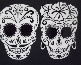 Day of the Dead Art Catrina Sugar Skull Couple #36/376-#43/44