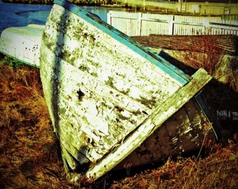 "Fine Art Photo - Title: ""Shipwrecked"" - billi j miller photography - Newfoundland, fishing, boat, rustic, canada, coast"