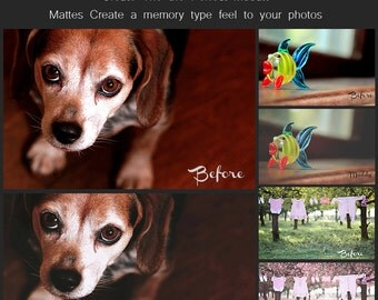 Moody Mattes - Photoshop  Action set of 28