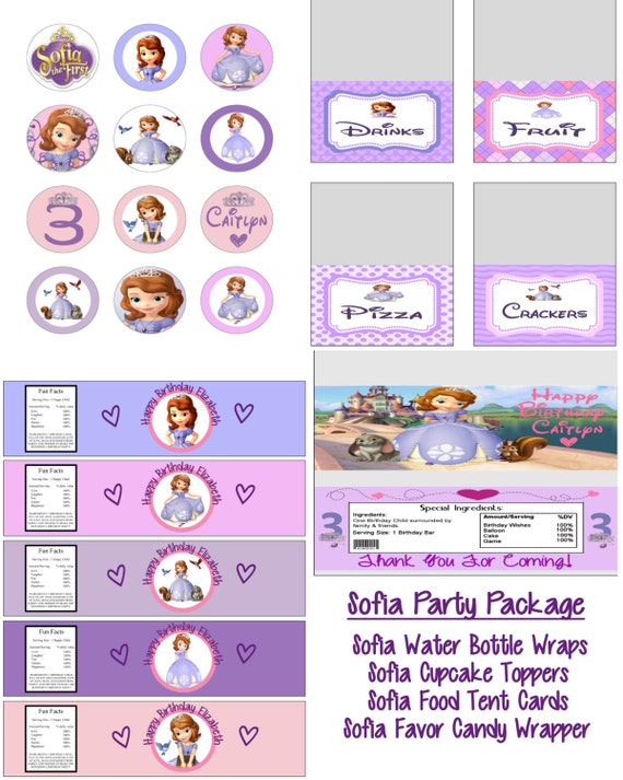 Disney Princess Sofia The First Birthday Party Printable Lot