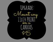 Canvas Upgrade - 11x14 inch
