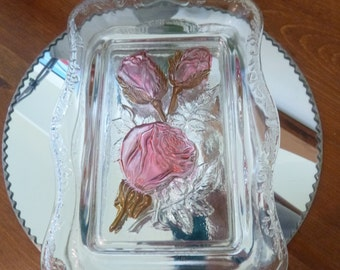 Painted Glass Serving Tray