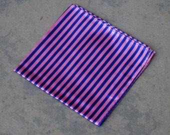 Silk Striped Pocket Square