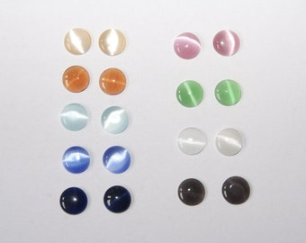 18 Piece 10mm CatEye cabochons MIX
