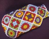 Hot Water Bottle Cover Cosy Diagonal Granny Flower Square Crochet PATTERN PDF