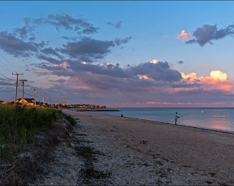 Surf Drive Falmouth Cape Cod Sunset 8x12 Fine Art Print