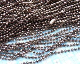 SALE--20 pcs - 27inch, 2.0 mm coffe Ball Chain Necklaces