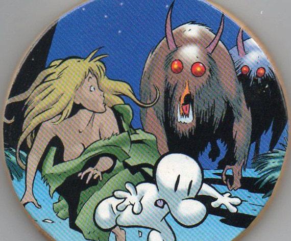 Bone Comic Book Art Wooden Drink Coaster Monsters Jeff