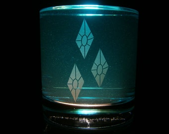 Rarity Cutie Mark - Rocks Glass