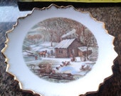 Currier and Ives Home in the Wilderness Decorator Plate
