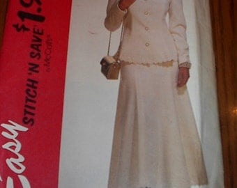 REDUCED AGAIN SALE Uncut McCalls Pattern 6272 Dated 1992 Was 3.00 Then 1.50 Now 0.99