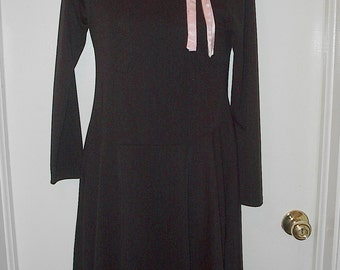 HALF PRICE SALE My Michelle Little Black Dress With Pink Fur Was 10.00 Now 5.00