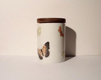 SALE Vintage Porcelain Canister / Jar / Box