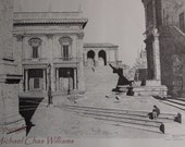Michaelangelo's Piazza Compodoglio, Rome-Large Print Fine Art Reproduction of Pen and Ink