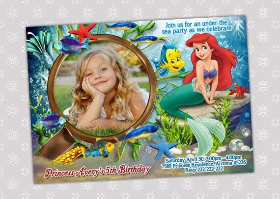 items similar to disney princess ariel little mermaid birthday, Birthday invitations