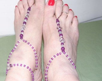 Purple Heart Toe Thong
