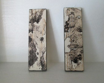 OOAK Set of 2 Miniature Art Work or Coffee Table Treasury Item