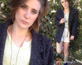 Women's double-breasted, wool coat
