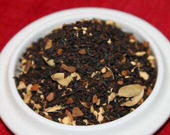 Organic Masala Chai Black Tea:  Organic India Masala Chai with Ginger, Cinnamon, Cardamom, Black Loose Tea Blend