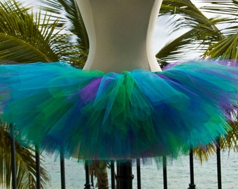 Adult Tutu - Blue, Green and Purple