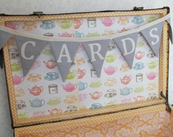 "Mini-Bunting - ""Cards"" wedding decoration"