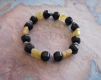 Honey yellow jade zen bracelet