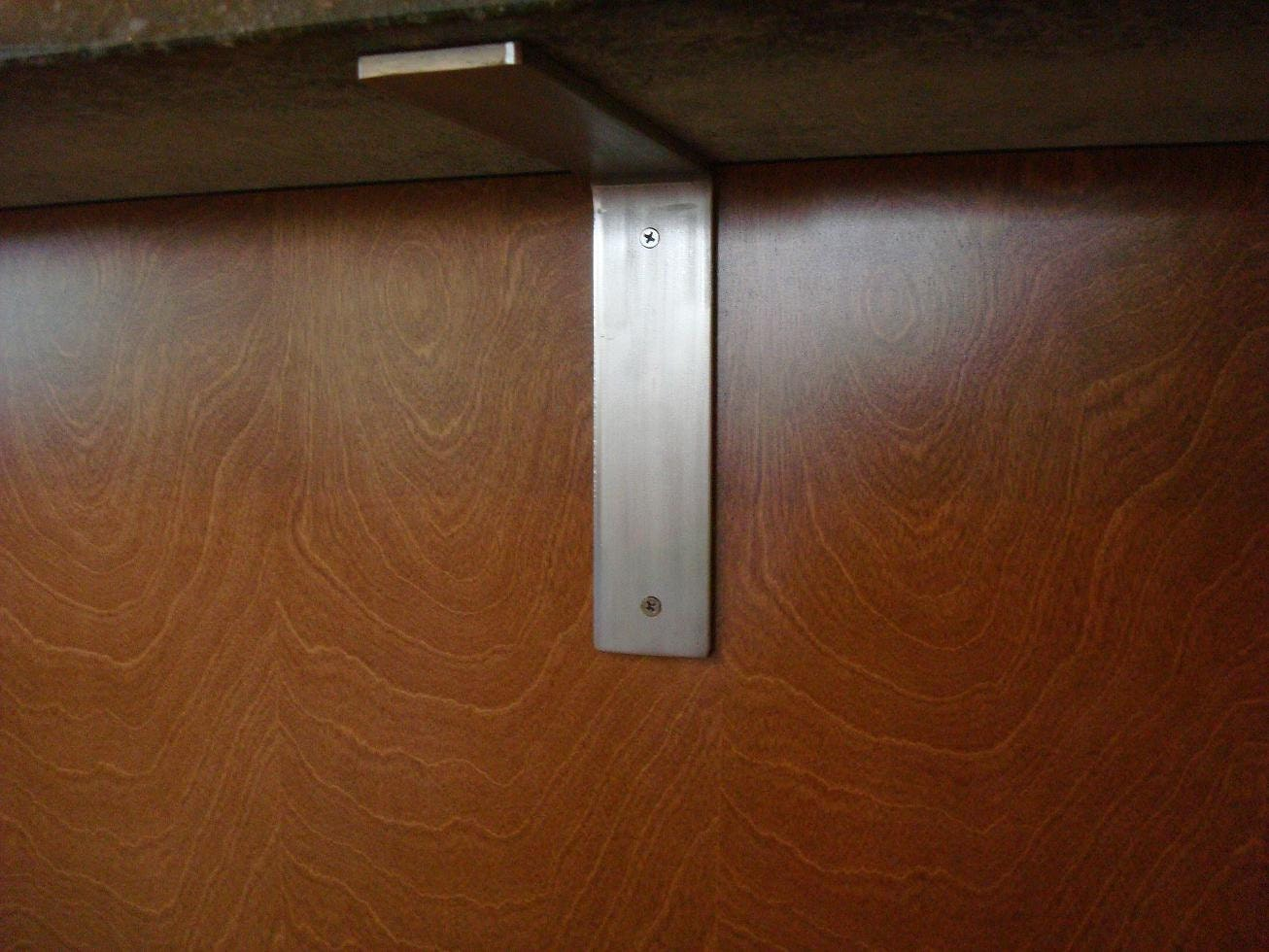 Brushed Stainless Steel Countertop Corbel Support Bracket