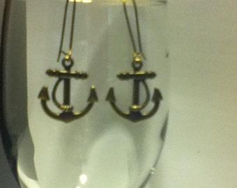 Bronze Anchor Earring