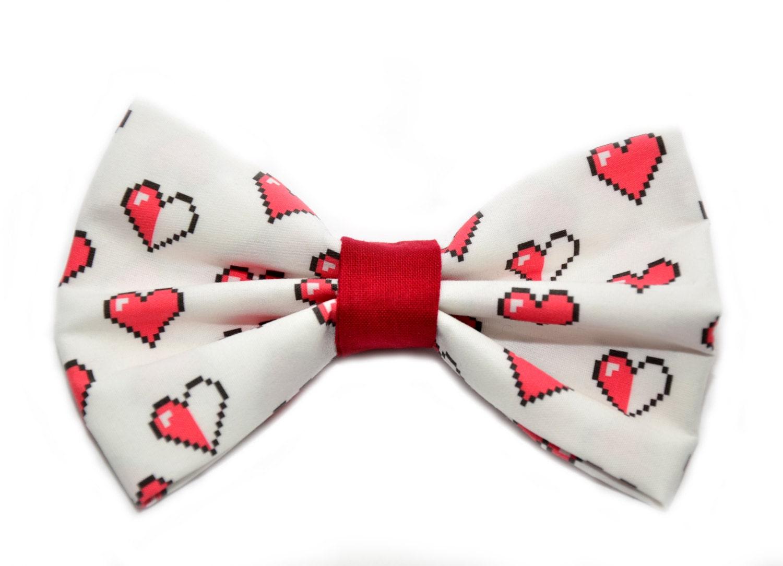 Zelda Hearts Bow Tie