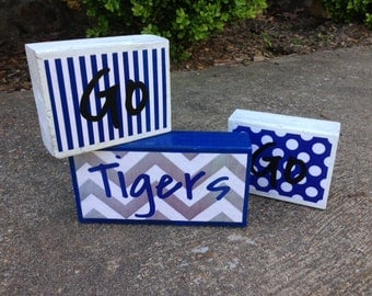 Memphis Go Tigers Go Decorative Blocks - Set of 3