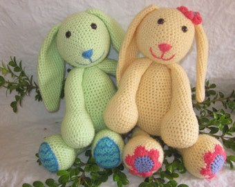 Crochet Patterns - Daisy and Minty the Spring Bunnies