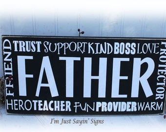 Father Wood Sign