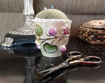 Ceramic Tea Cup Pincushion