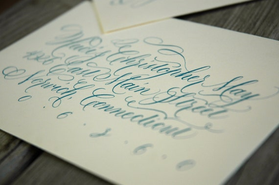 Flourished Copperplate Calligraphy For Wedding By