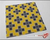 8bit D-Pads Bright Yellow - One Yard of Nintendo themed Kona Cotton Fabric