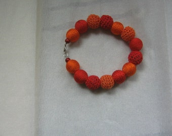Colourfull red/orange bracelet
