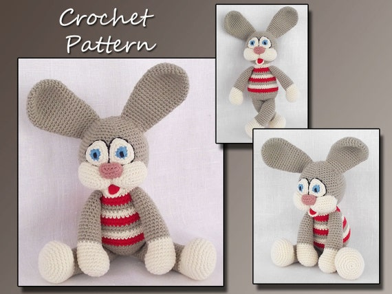 Amigurumi  Pattern Crochet , Amigurumi Toy, Crochet Bunny Pattern, Animal Crochet Pattern, Amigurumi Bunny, Rabbit, CP-117