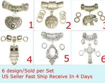 Shinning Scarf Jewelry Pendants 6 Design For Decorate Scarfs, Sold Per Set Free Shipping In US