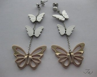 Butterfly Stainless Steel Stud Earrings