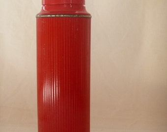Thermos - Vintage Red Metal
