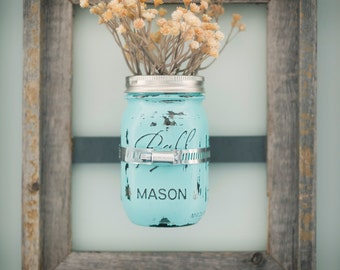8 X 10 Mason Jar Frames With Painted Mason Jars