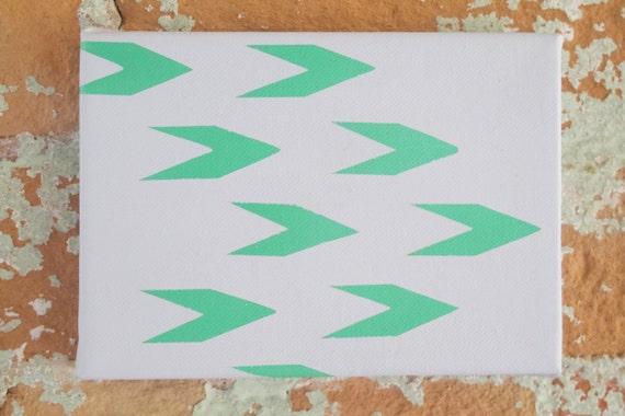 Pintura abstracta gris y verde Kelly