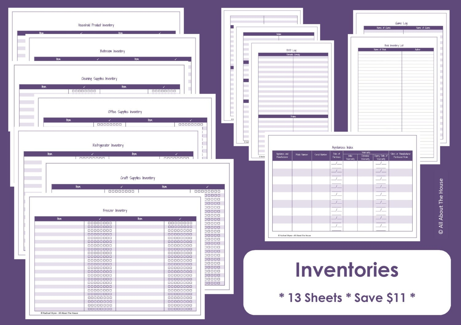 Free Worksheet Home Inventory Worksheet inventory etsy home printables organisation household binder 13 sheets value pack