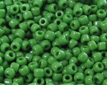 8/0 Opaque Jade Green Seed Beads,   Jade Seed Beads, Green Seed Beads, Opaque Seed Beads, Beads, 15 grams Japanese beads # 8256 Item #269